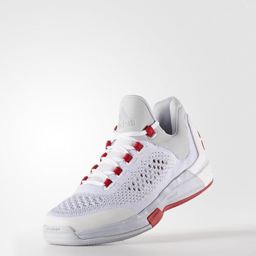 new style 00ec0 eff52 adidas CrazyLight Boost 2015 White Clear Grey – Red 3