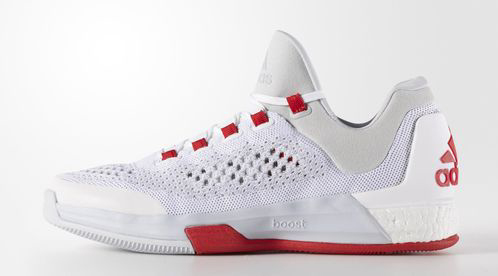 half off d4706 4f8f0 adidas CrazyLight Boost 2015 White  Clear Grey - Red - WearTesters
