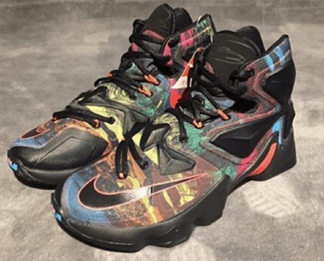 1abcbbcc8da Multiple Colors Make Up This Nike LeBron 13 - WearTesters