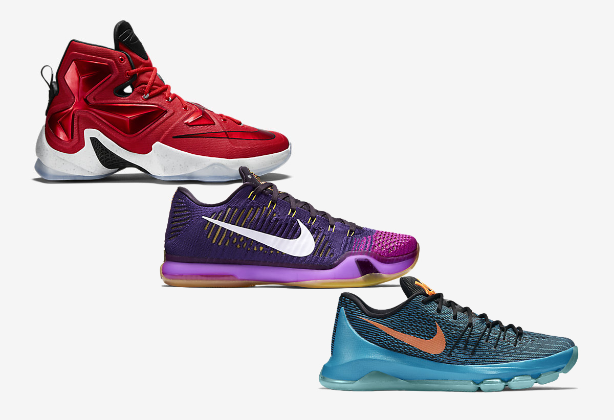 best website e6fe0 57759 Nike Basketball (KD 8, LeBron 13, Kobe X) Away Colorways Available ...