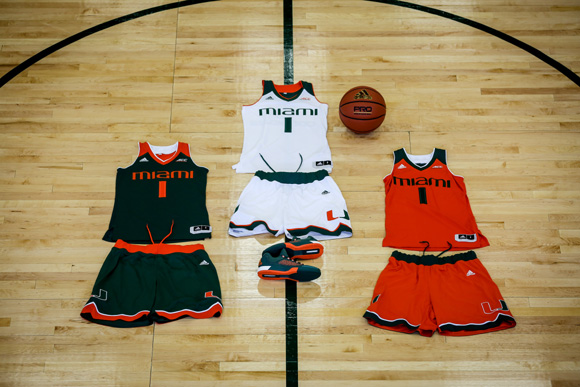 6b6d6263edd adidas Outfits The University of Miami with New Basketball Uniforms and  Crazy Light Kicks 4