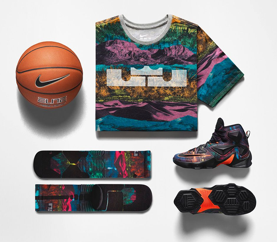 official photos b6e0d bff4a ... Nike LeBron 13  Akronite Philosophy  clothing