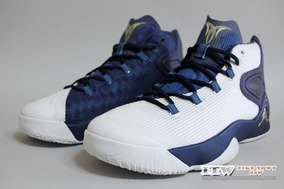 3b839bab145 ... Get Up Close and Personal with The Jordan Melo M12 in White Navy 2 ...
