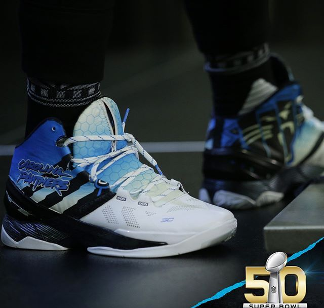 10048336267 Cam Newton Rocks a Custom Colorway of the Under Armour Curry 2 ...