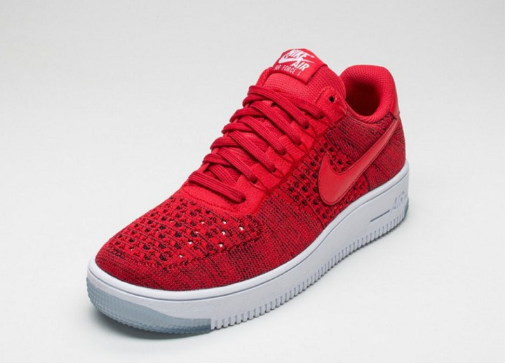 d257114b773f3 ... Check Out the Nike Air Force 1 Ultra Flyknit Low in  University Red  ...