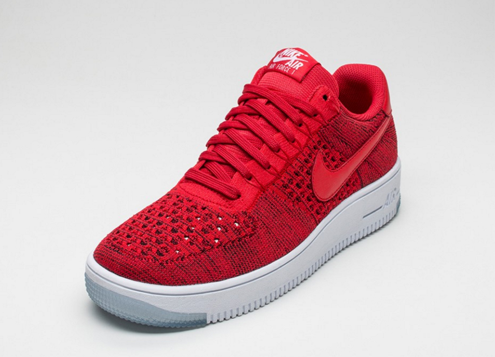 56c3a9e89f6d4f Check Out the Nike Air Force 1 Ultra Flyknit Low in  University Red ...