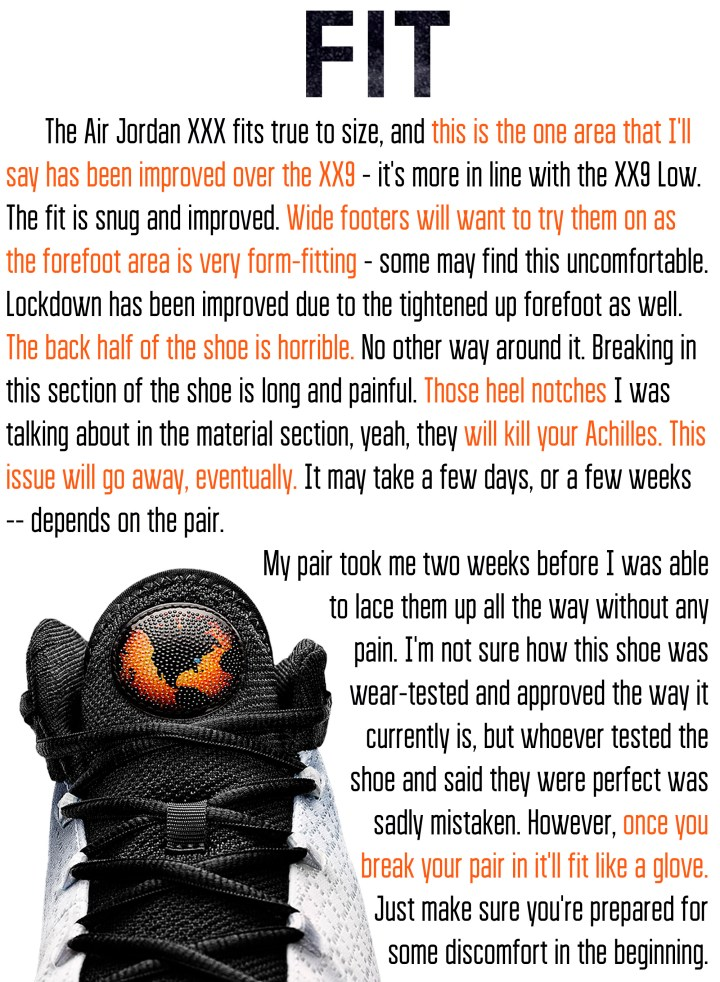281fe60e12b3 Air Jordan XXX (30) Performance Review - WearTesters