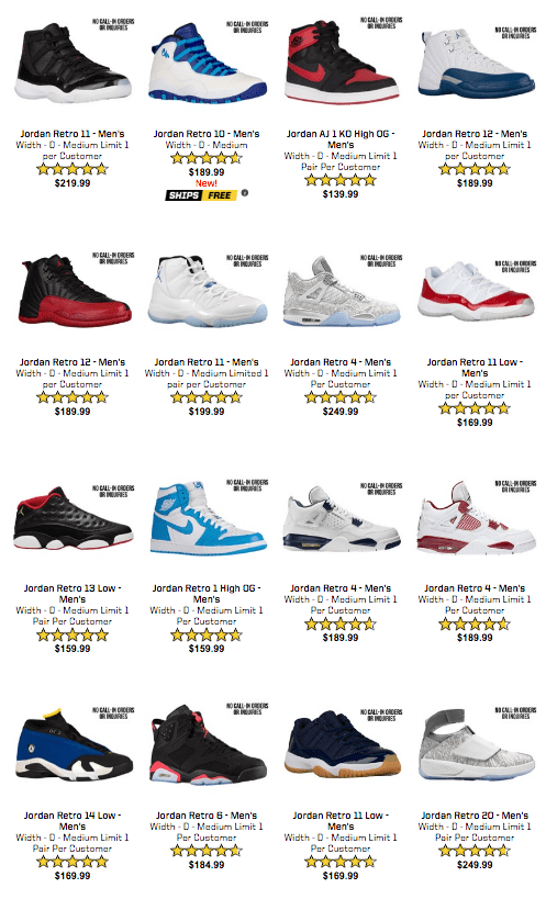 Eastbay Just Restocked a Bunch of Air Jordan Retro s - WearTesters 69b4f9a55