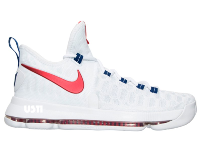 fb5ad225b779 Get a Detailed Look at the Nike KD 9 in White  University Red ...