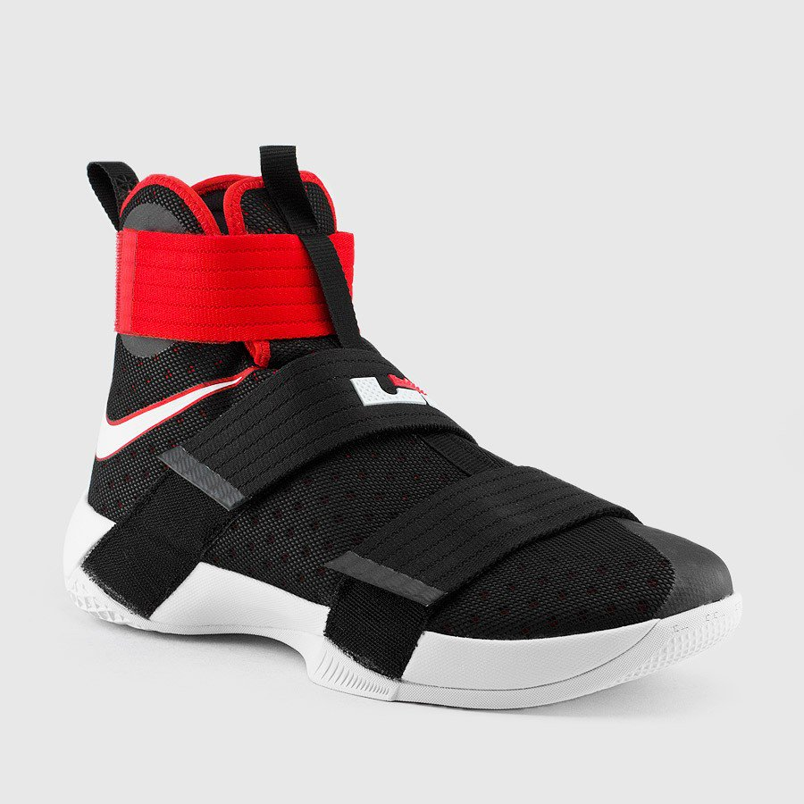 online retailer 20c7d 4bd19 The Nike LeBron Soldier 10 in Black  University Red is Available Now ...