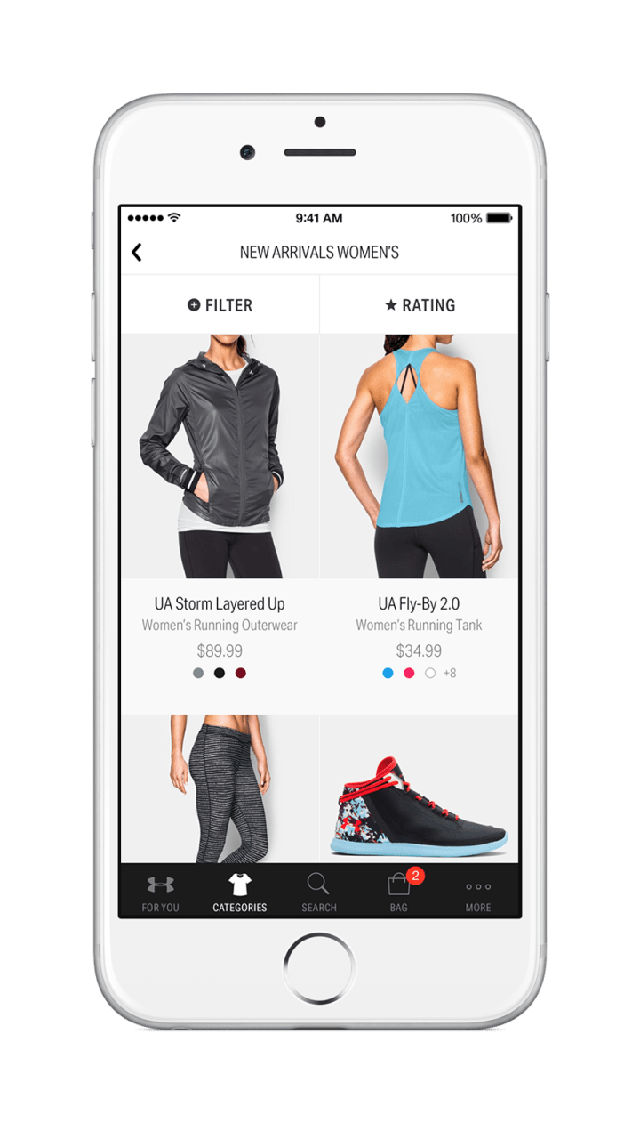 Under Armour Just Lanched the Brand's First Custom Shopping App Dubbed the UA Shop 4