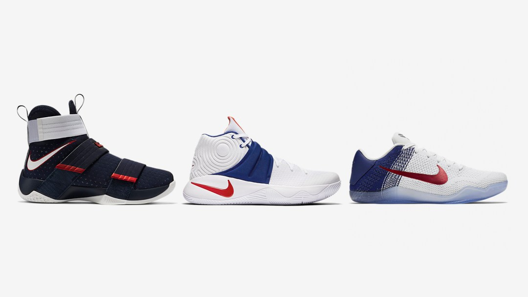 new product 8e48e 7d104 2016 Nike Basketball  USA  Pack (Kobe 11, Kyrie 2, LeBron Soldier 10 ...
