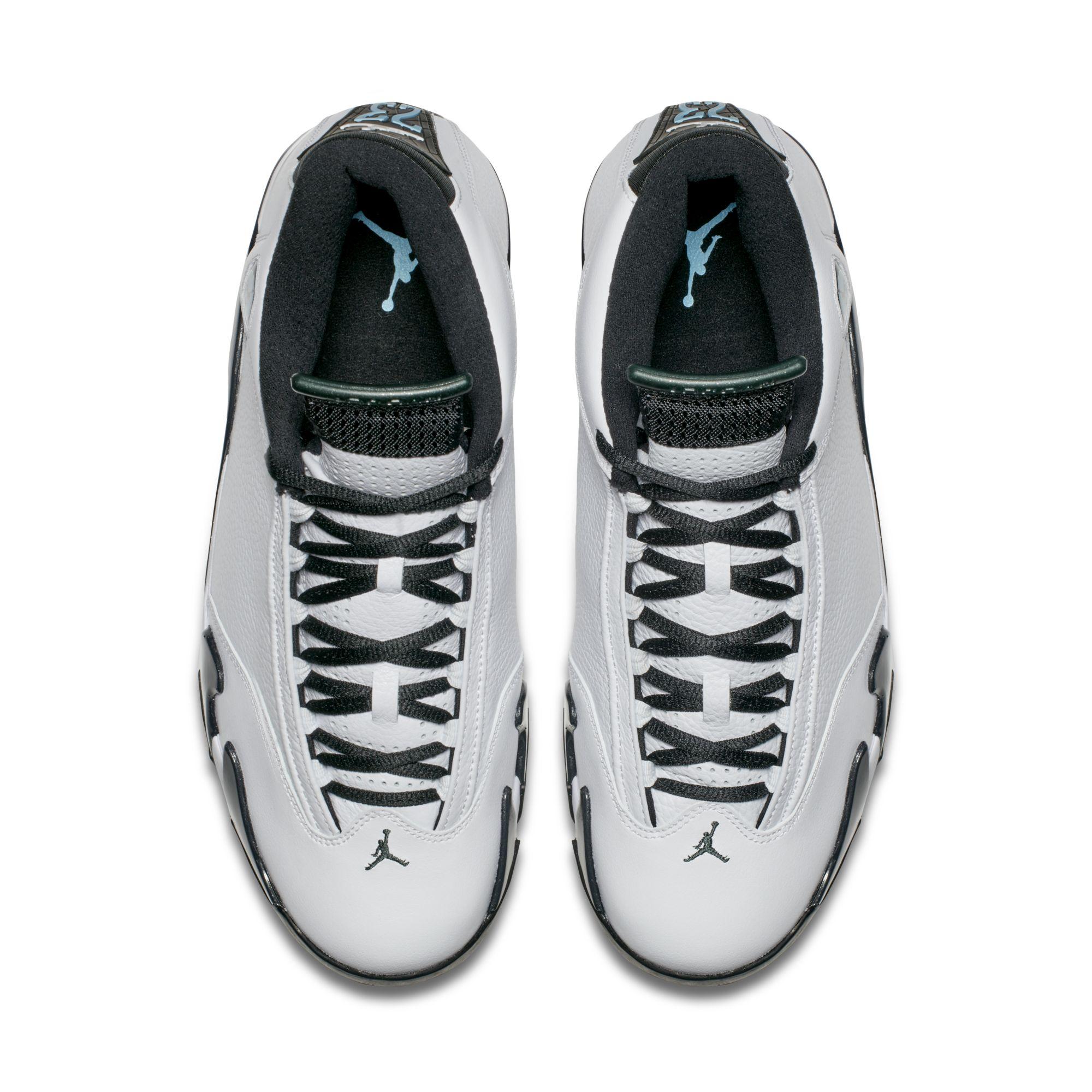 8cb783c4a4bd Air Jordan XIV Oxidized Green - top View - WearTesters