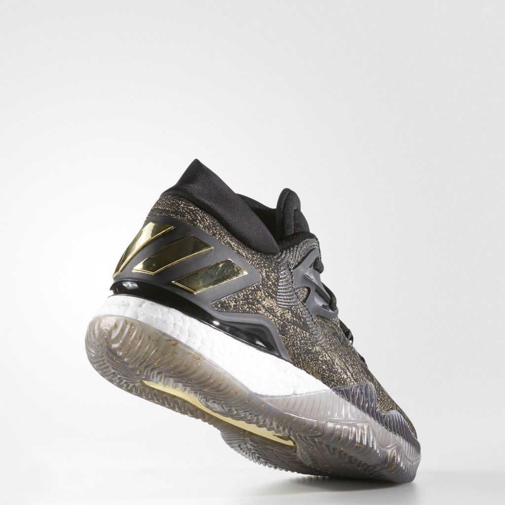 7beffd35785b ... wholesale adidas crazylight boost 2016 black gold rear d979c 881fe