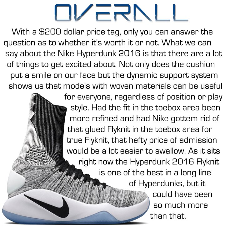 c241b63deab Nike Hyperdunk 2016 Flyknit Performance Review - WearTesters