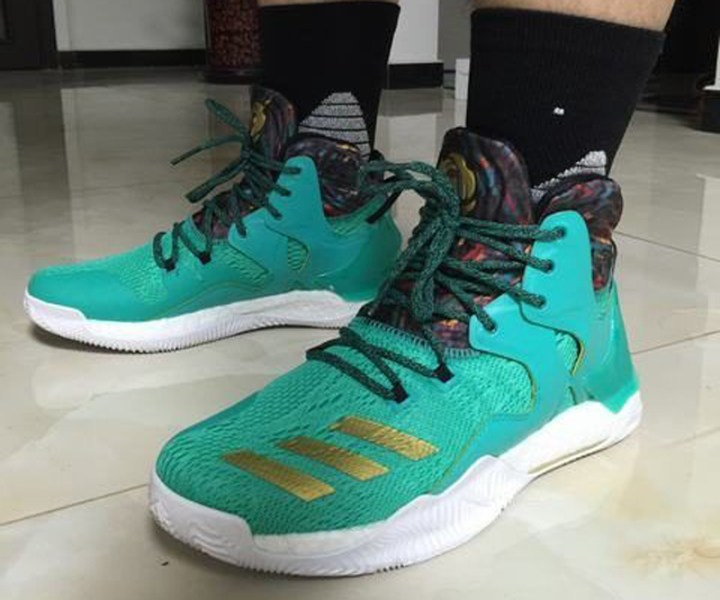 innovative design 05fe8 eb9c6 The adidas D Rose 7 is Spotted in Teal Gold 2