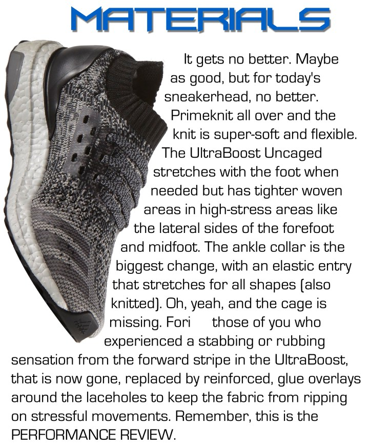 UltraBoost Uncaged - Materials