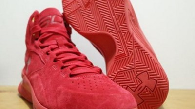 under armour curry one lux red suede 3