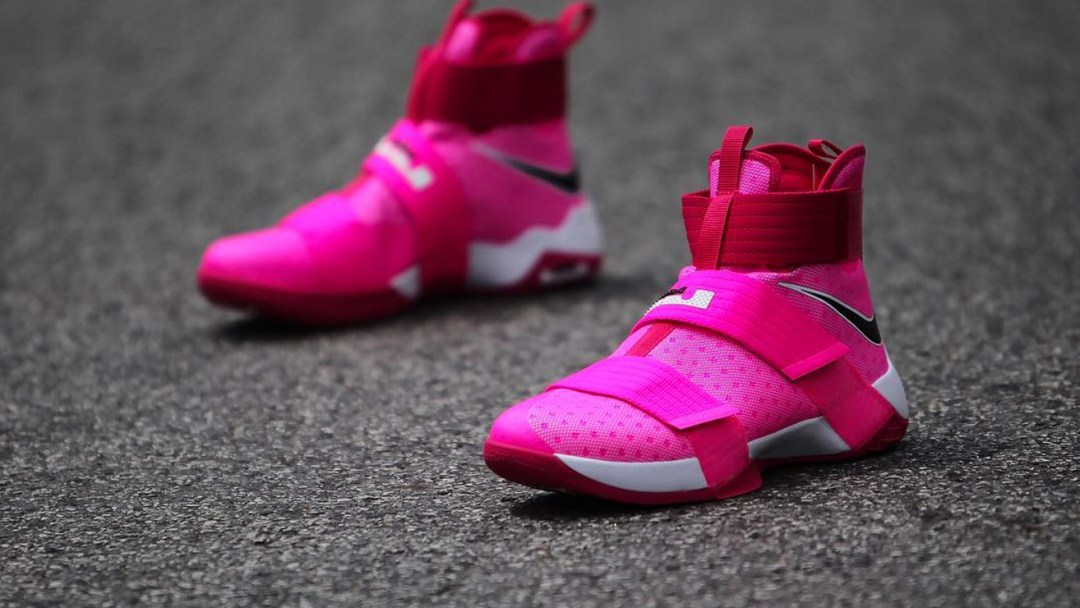 a550adbc0f78 A Nike LeBron Soldier 10 for Breast Cancer Awareness - WearTesters