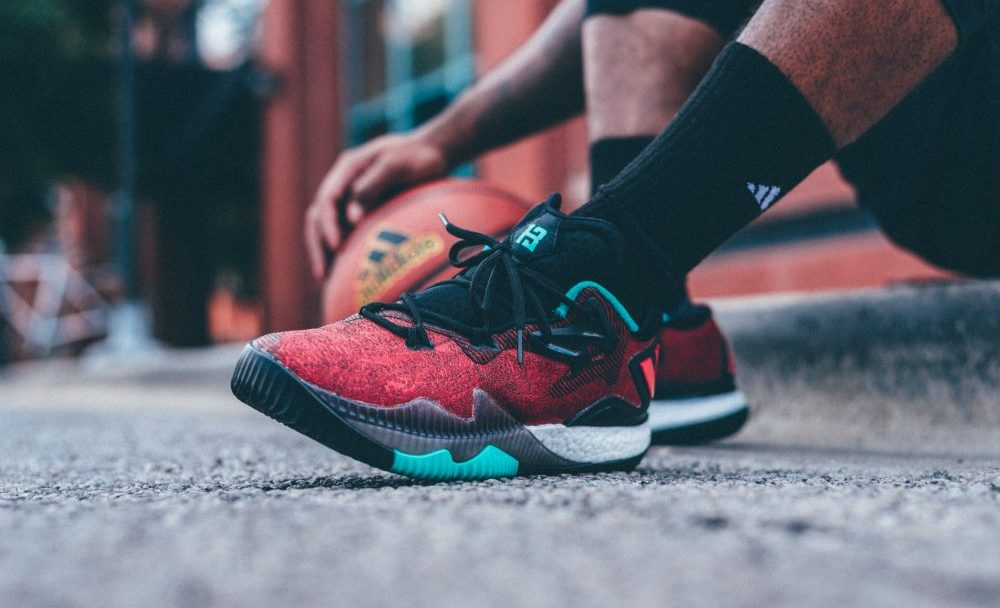 The adidas Crazylight 2016  Ghost Pepper  James Harden PE is ... 82ee1c400