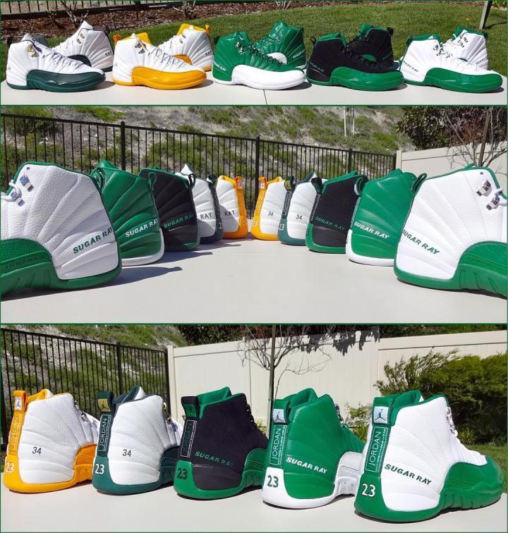 5f6c05f14709 ray allen Air Jordan 12 Retro - Seattle Supersonics Boston Celtics  Home Away PE