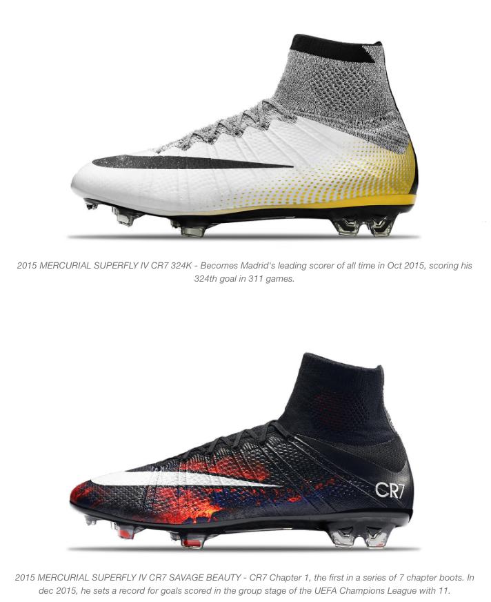 nike and cristiano ronaldo mercurial boots 10