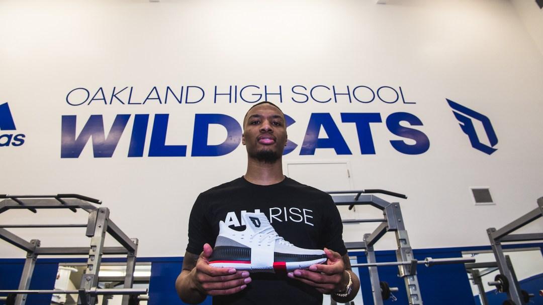 adidas Dame 3 Oakland High weight room 1