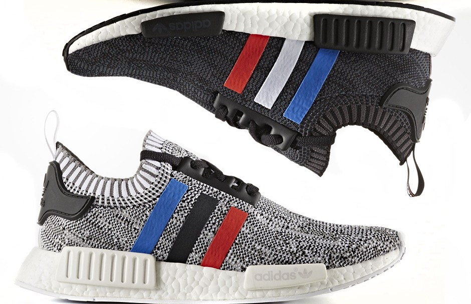 timeless design 3d978 b73bd Where to Cop the adidas NMD R1 Primeknit Tri-Color in  Core Black ...