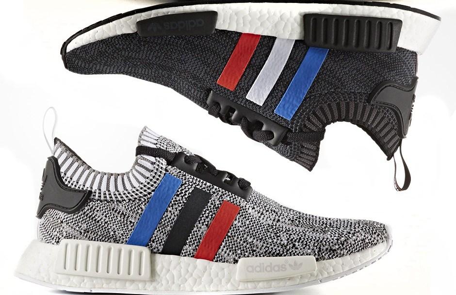 c76c3043c8da4 Where to Cop the adidas NMD R1 Primeknit Tri-Color in  Core Black ...