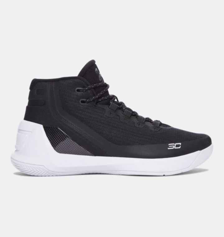 under armour curry 3 black white 4