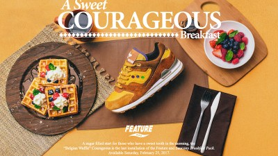 Feature x Saucony Courageous Belgian Waffle 1