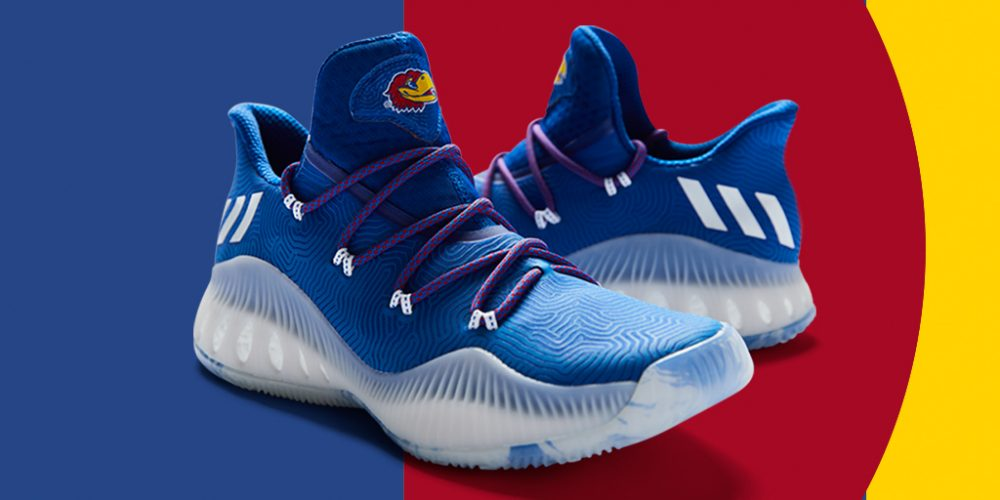 652cf25e5f83 adidas Crazy Explosive Low Kansas March Madness 1 - WearTesters