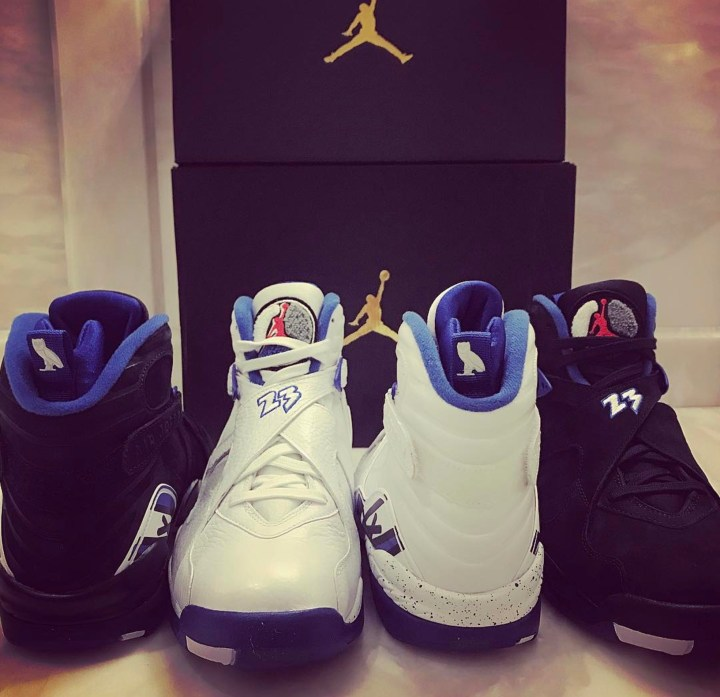 bc521ac2dc90 Drake Flaunts Upcoming OVO Air Jordan 8  Calipari Pack  - WearTesters