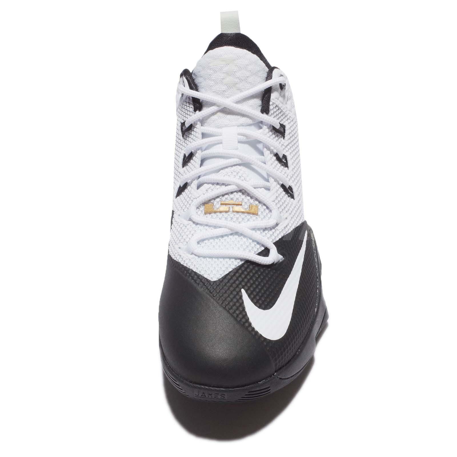 online retailer 0fd4b ad11c Nike LeBron Ambassador IX – White-Gold – Front