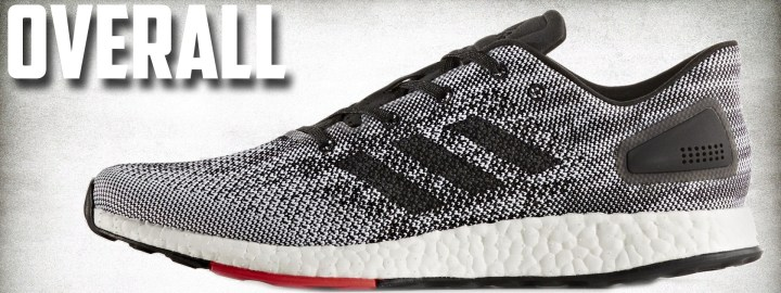 56b297b8e5359 Overall     The adidas PureBoost DPR is a solid shoe for those looking at a  runner on the minimalist side of the running spectrum that still offers ...