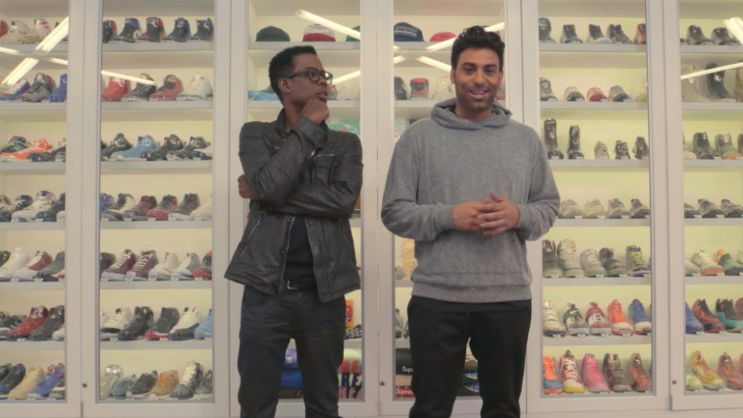 bab6f6148c1 Comedy Legend Chris Rock Goes Sneaker Shopping - WearTesters