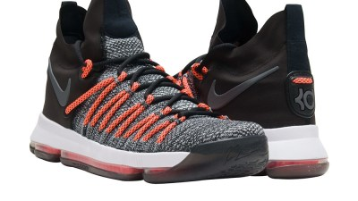 nike kd 9 elite Black:White:Dark Grey-Hyper Orange 4