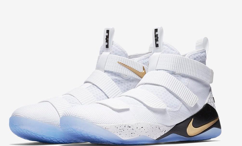 separation shoes b7e75 8ee90 nike lebron soldier 11 white metallic gold 1