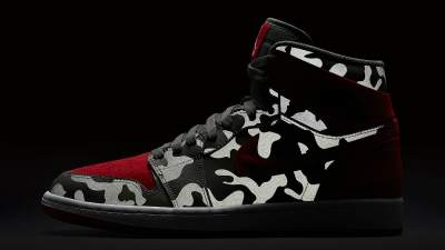 91db0e8da2660b ... Reflective Camo Air Jordan 1 Retros ...