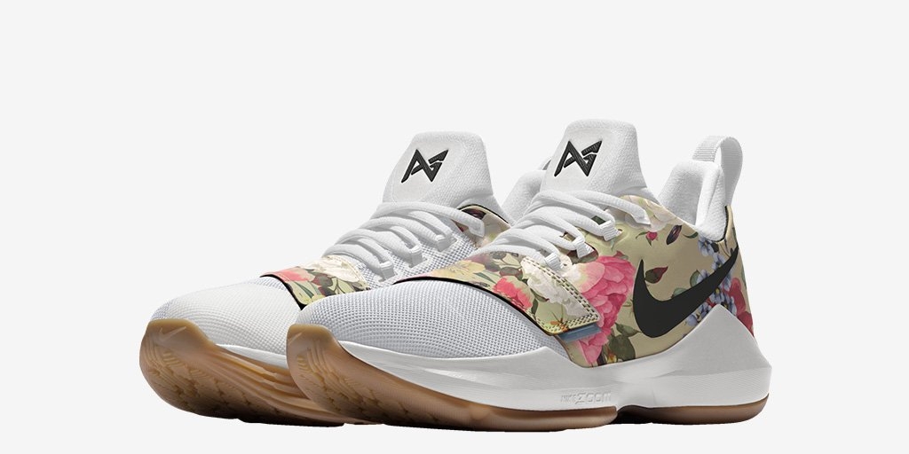 newest c76ff 64d14 You Can Now NIKEiD the Nike PG 1 with Floral Print - WearTes