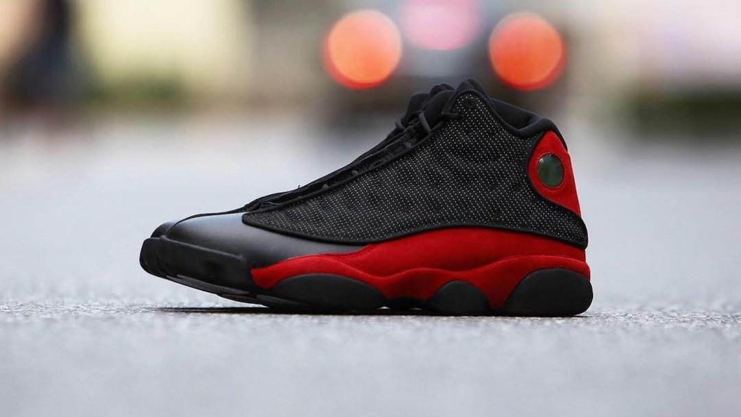 7814c30e9789 Beauty Shots of the Air Jordan 13 Retro  Black Red  - WearTesters