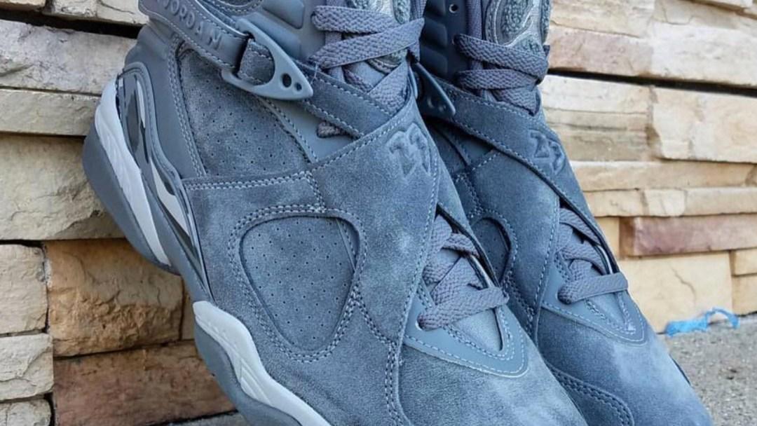 5dff42068faefa Detailed Look at the Air Jordan 8 Retro  Cool Grey  - WearTesters