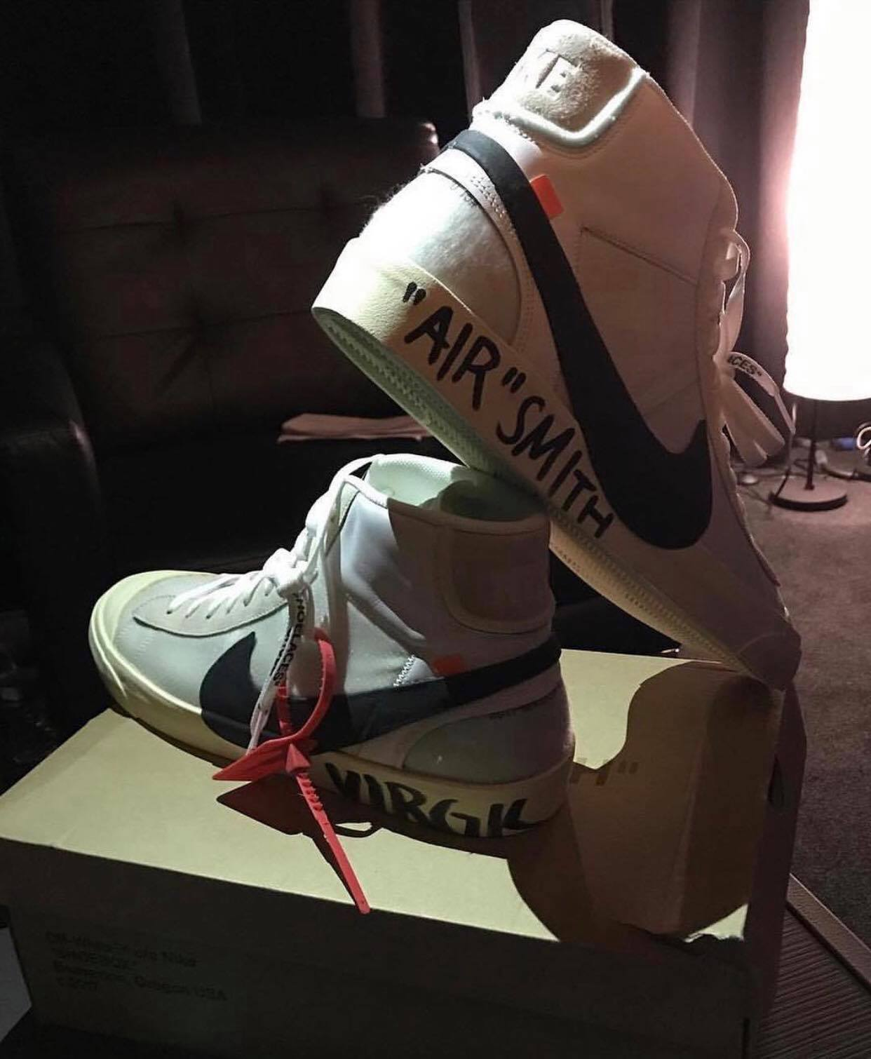 80a08e0daf3c JR Smith Blessed with the Virgil Abloh x Nike Blazer Mid on His ...