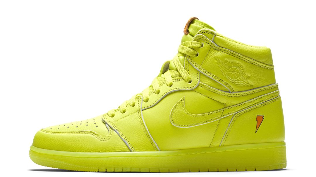 d6d0a35ae60d The Gatorade x Air Jordan 1 Retro High Goes Lemon-Lime - WearTesters