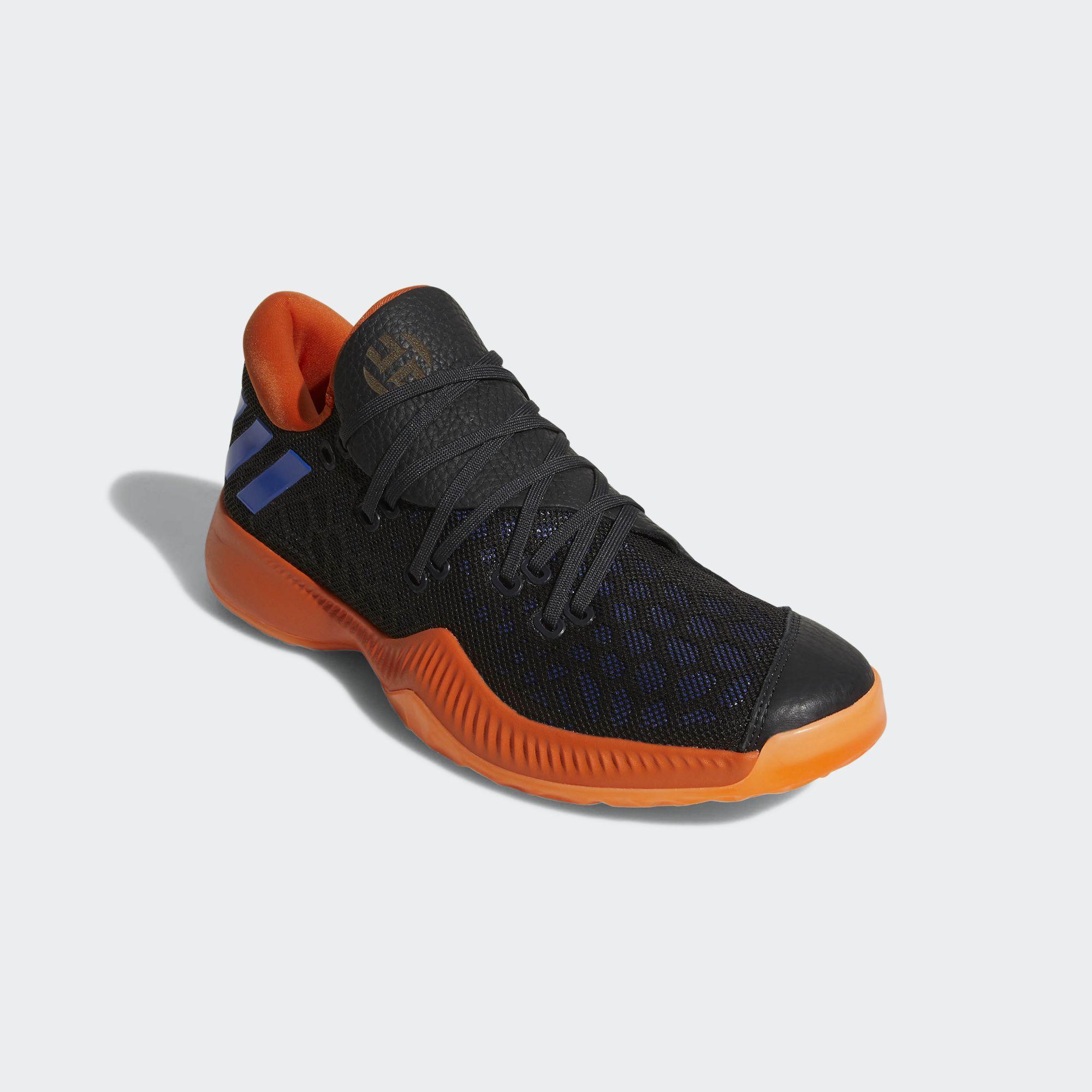 promo code 52faf f11ed ... cheapest adidas harden b e black orange blue 2 0785f 03306