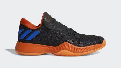 adidas harden b/e black orange blue 3
