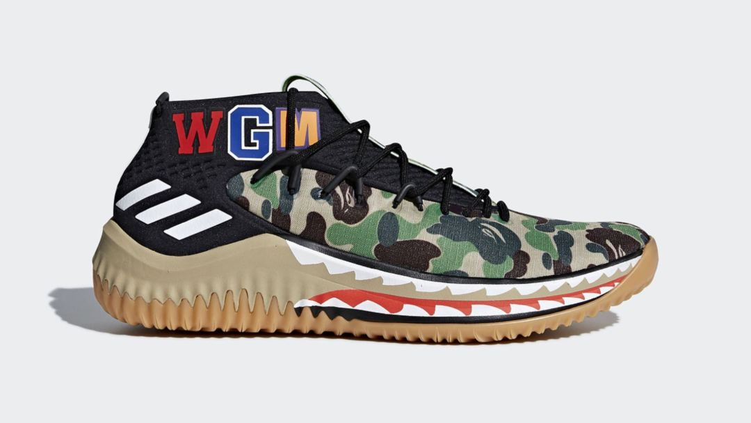 c1b491c92a4a Official Images of the adidas Dame 4 BAPE Colorways for ASW Leak ...