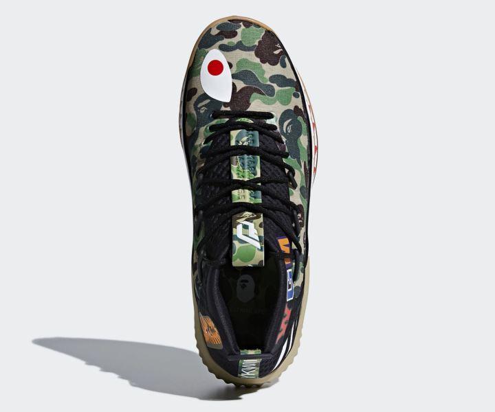 reputable site 4724d 22c6e adidas dame 4 BAPE official 5