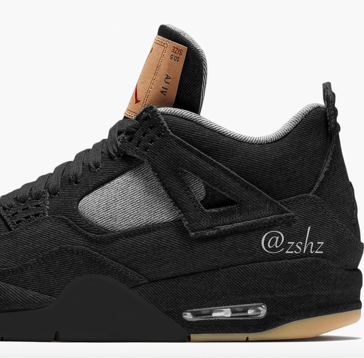 5e453ecabfc1 Levi s x Air Jordan Retro 4 in Alternative Black Rumored To Drop ...