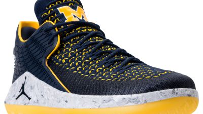 9afe830cd9bf2 University of Michigan Gets Air Jordan 32 Low  Michigan  PE for March  Madness